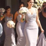 Glamorous Lavender Bridesmaid Dress - Mermaid Sweetheart Sweep Train with Beading