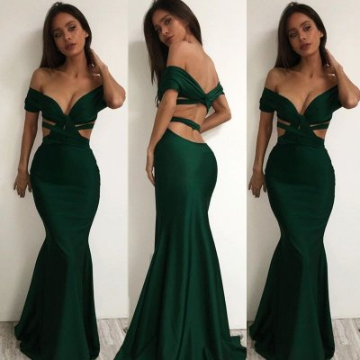Sexy Off the Shoulder Cross Backless Mermaid Prom/Party Dress