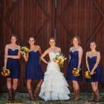 Knee Length Chiffon Bridesmaid Dress - Royal Blue A-Line Sweetheart