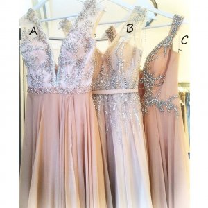 Charming Long Prom/Evening Dress - Three Style Dress with Beaded
