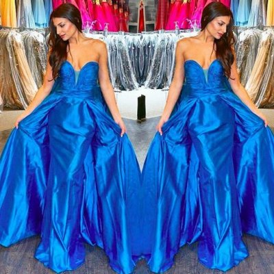 Elegant Long Prom Dress - Blue Sweetheart Sheath for Women