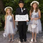 A-Line Bateau Knee-Length Light Grey Tulle Flower Girl Dress with Sequins