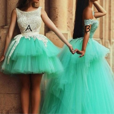 Princess Tulle Prom/Homecoming Dress - Mint Green Two Style Gown for Birthday Party