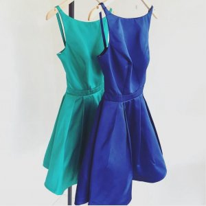Simple Bateau Short Open Back Royal Blue Homecoming Dresses Ruched