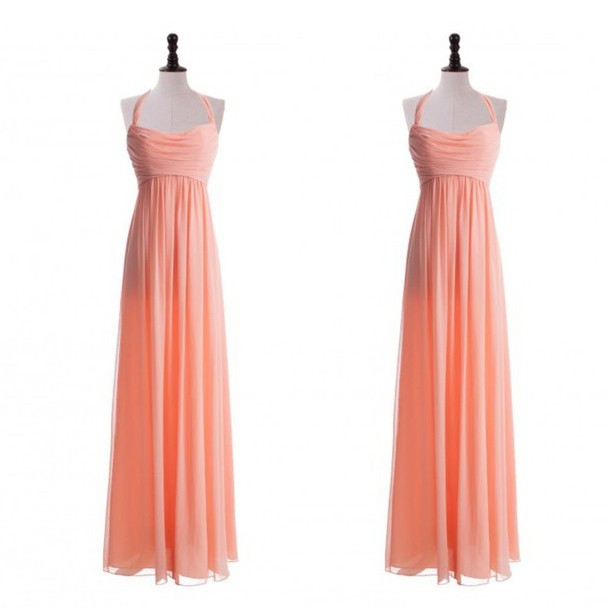 Luxurious A-Line Floor Length Chiffon Spaghetti Straps Pink Bridesmaid Dress With Ruched
