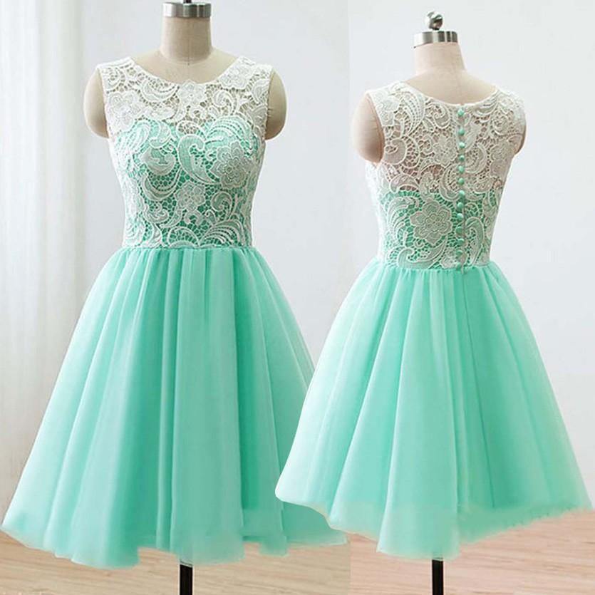 Short Mint Bridesmaid Dresses