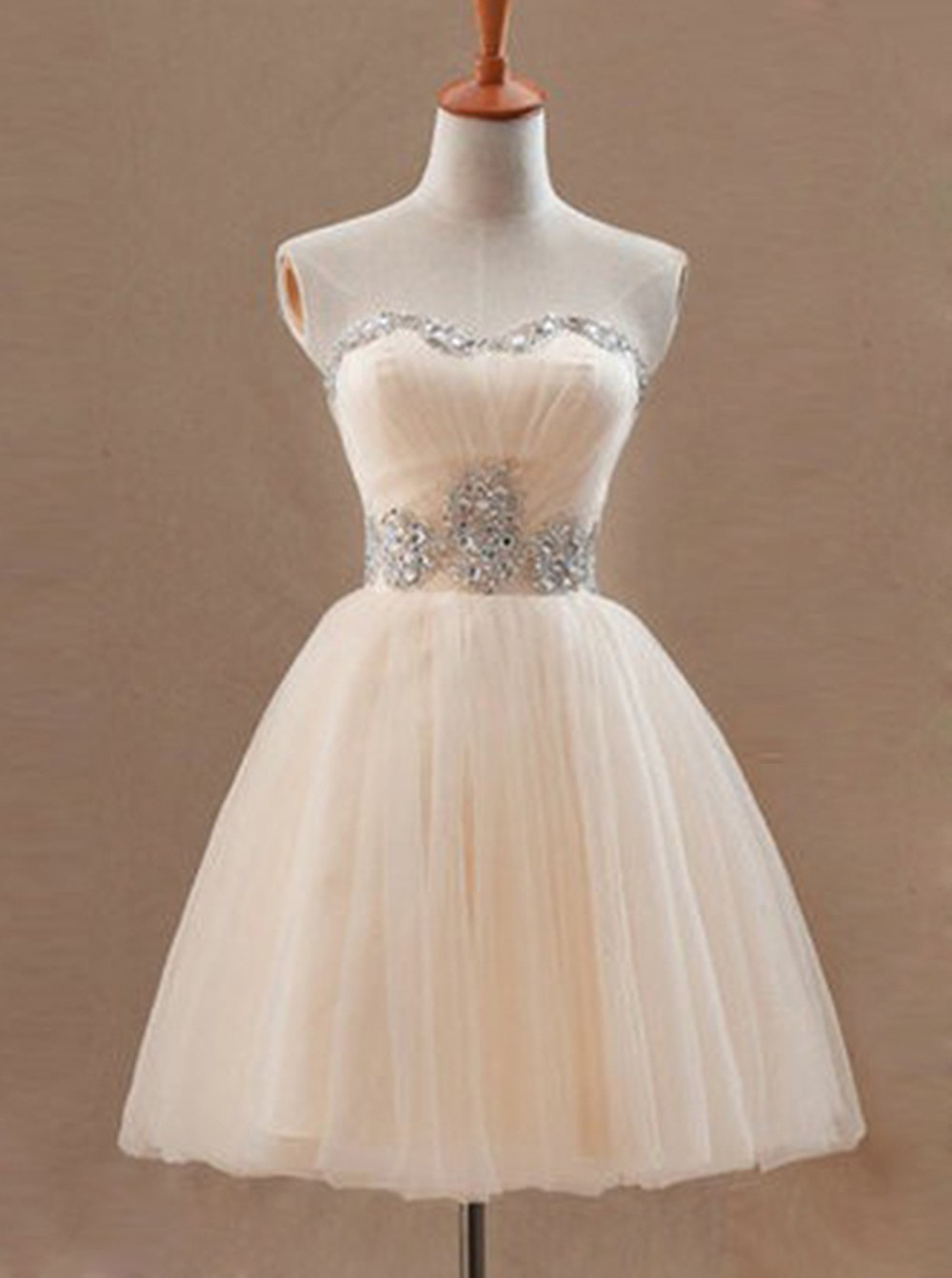 Exquisite Sweetheart Sleeveless Short Pearl Pink Homecoming Dress with Beading Waist