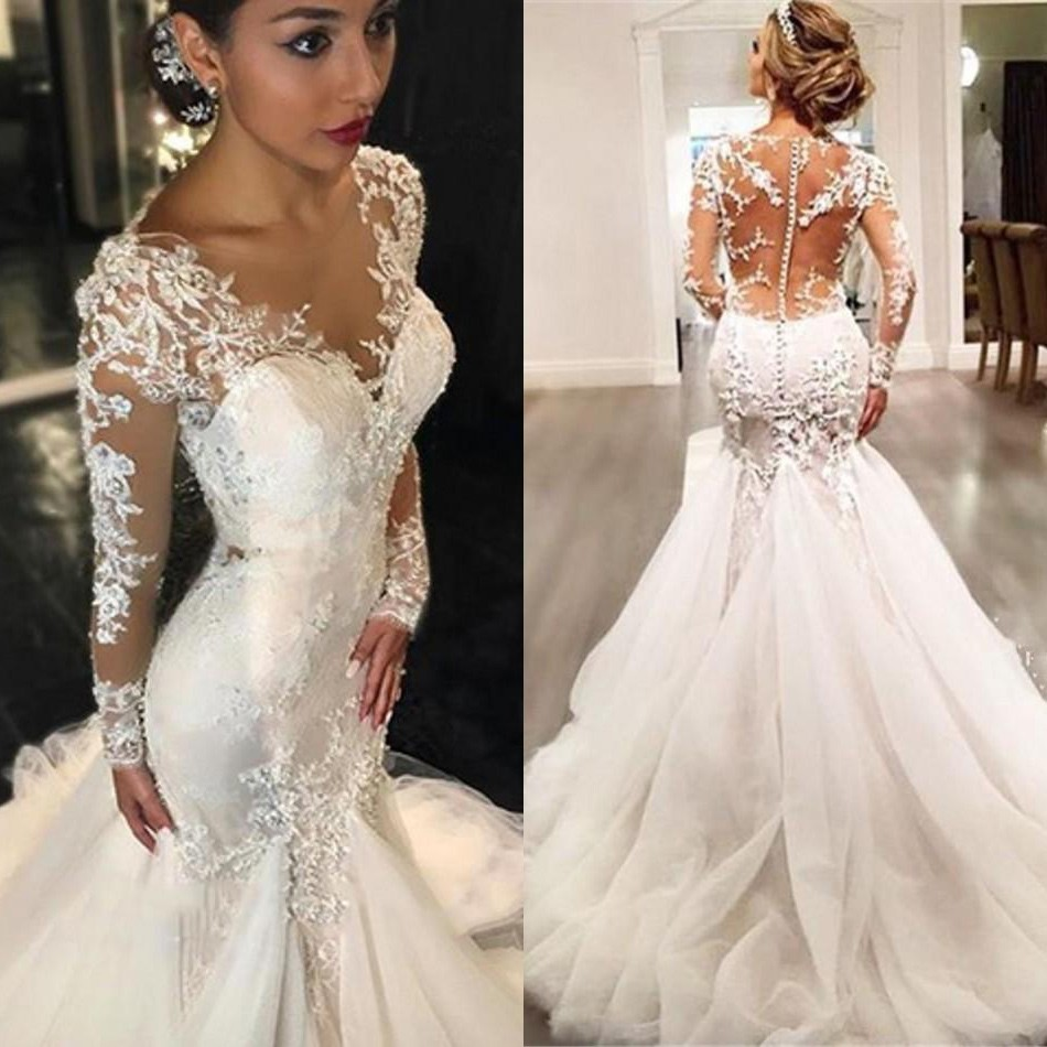 New Arrival Mermaid Wedding Dresses Bridal Gown with Appliques