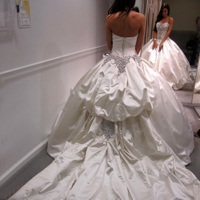 Fabulous Ball Gown Wedding Dress - Sweetheart Court Train with Beading