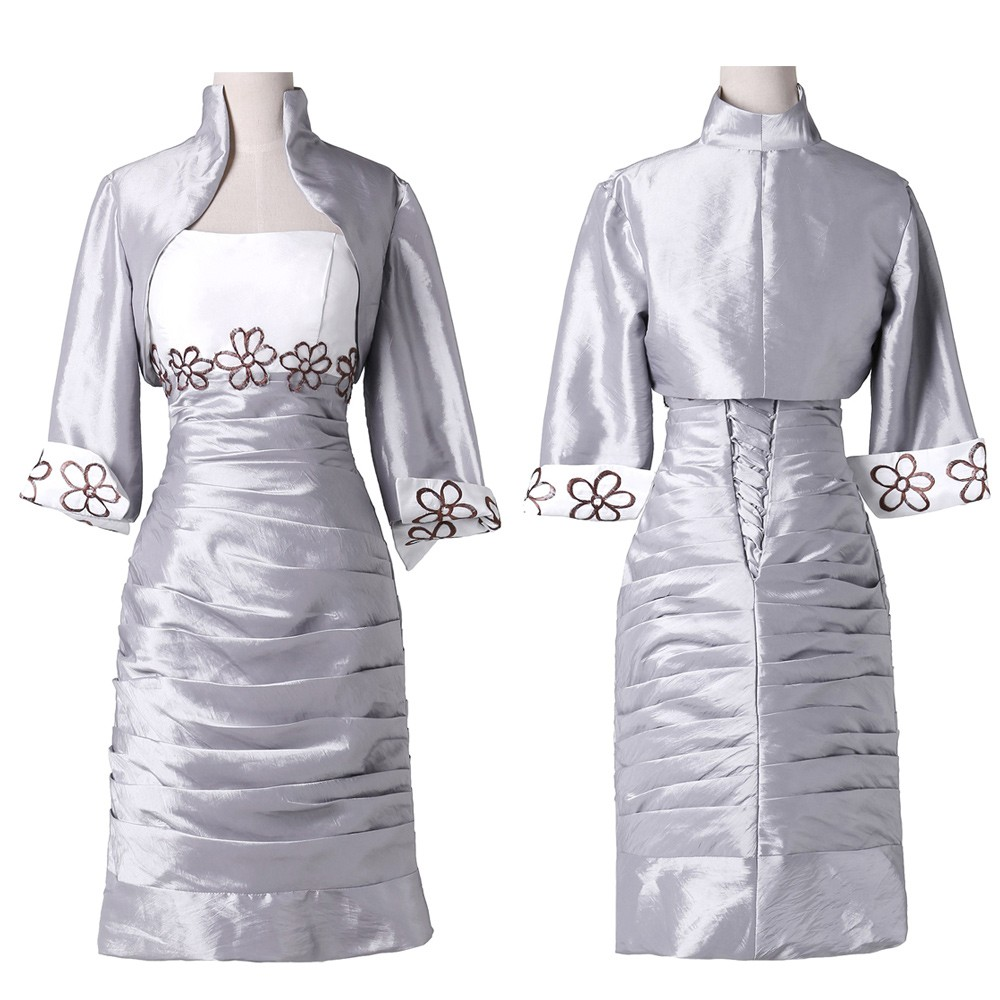 Elegant Sheath Mother of the Bride Dresses with Jacket