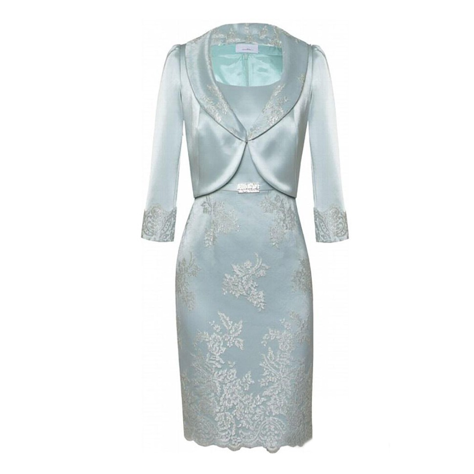 High Quality Appliques Sash Mother of the Bride Dresses with Jacket