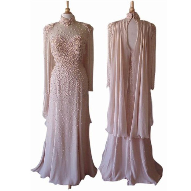 New Arrival High Neck Mother of the Bride Dresses with Pealrs